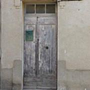 Door With Green Mailbox Poster