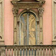 Doors Balcony And Duomo Reflection In Milan Italy Poster