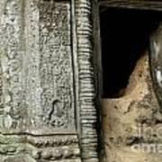 Doorway Ankor Wat Poster