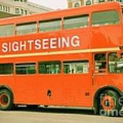 Double Decker Bus Poster