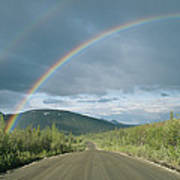 Double Rainbow Over The Denali Highway Poster