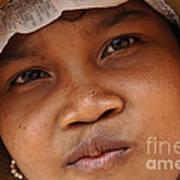 Cambodian Girl Poster