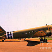 Douglas C47 Skytrain Military Aircraft . Painterly Style 7d15788 Poster