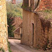 Down The Lane In Beynac France Poster