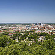 Downtown Birmingham Alabama On A Clear Day Poster