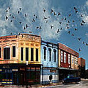 Downtown Bryan Texas 360 Panorama Poster by Nikki Marie Smith