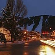 Downtown Jackson Hole At Night Poster