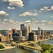 Downtown Pittsburgh Hdr Poster by Arthur Herold Jr