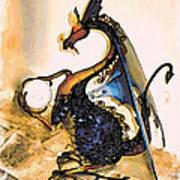Dragon At Work Poster
