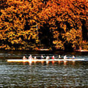 Dragon Boat On The Schuylkill Poster