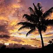 Dramatic Fiji Sunrise Poster