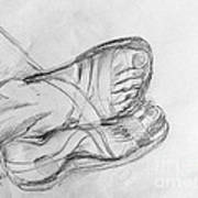 Drawing Class. Sandaled Feet Poster