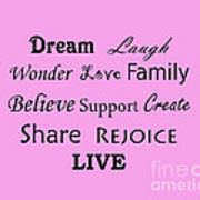 Dream Laugh Wonder Love Family And More Poster