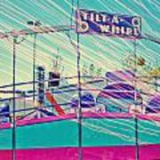 Dreamy Tilt-a-whirl Carnival Ride Poster