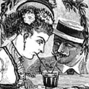 Drinking, 1875 Poster