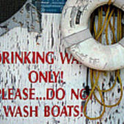 Drinking Water Only Poster