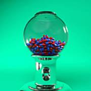 Drug Pills In A Sweet Dispenser Poster