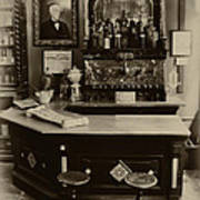 Drugstore Soda Fountain - New Orleans Poster