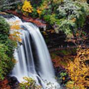 Dry Falls Or Upper Cullasaja Falls Poster