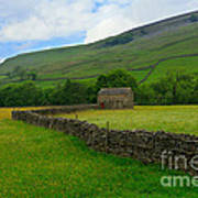 Dry Stone Walls And Stone Barn Poster