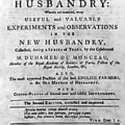 Du Monceau: Title Page Poster
