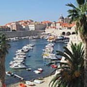Dubrovnik Croatia Port Poster