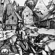 Durer: Prodigal Son, 1496 Poster