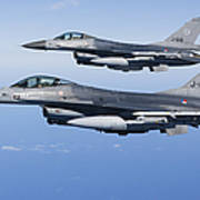 Dutch F-16ams During A Combat Air Poster