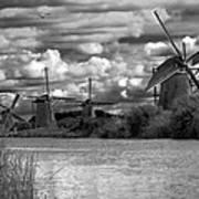 Dutch Windmills Poster