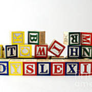 Dyslexia Poster by Photo Researchers, Inc.
