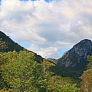 Eagle Cliff Seen Froom Boise Rock In Franconia Notch Poster