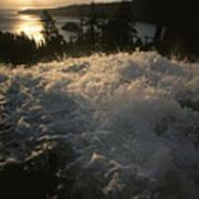 Eagle Falls Plunges Toward Lake Tahoe Poster