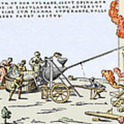 Early Firefighting Equipment, 1569 Poster
