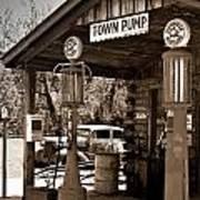 Early Gas Station Poster by Douglas Barnett