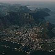 Early Morning Aerial View Of Cape Town Poster