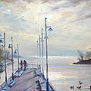 Early Morning In Lake Shore Poster