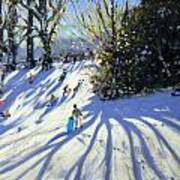 Early Snow Darley Park Poster by Andrew Macara