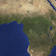Earth Showing Landcover Over Africa Poster by Stocktrek Images