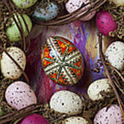 Easter Egg With Wreath Poster