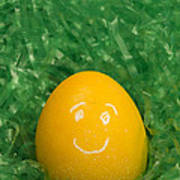 Easter Egg Yellow 3 Smile Poster