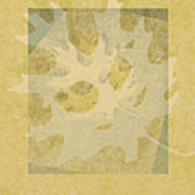 Ecru Leaf Poster