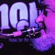 Ed Lynman On Blues Sax Poster