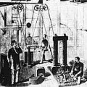 Edisons Electric Generator Poster