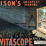 Edisons Vitascope, 1896 Poster