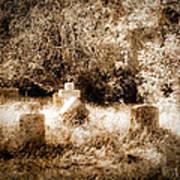 Eerie Cemetery Poster by Sonja Quintero