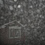 Eerie Spheres In The Night Poster