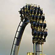Egypt-montu Rollercoaster At Busch Poster