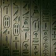 Egyptian Hieroglyphics Decorate Poster