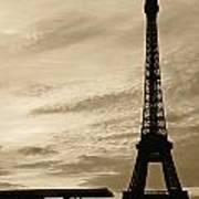 Eiffel At Sunset Poster