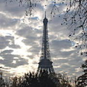 Eiffel In The Morning Poster